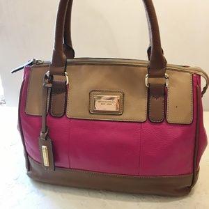 Tignanello Tri-Color Leather Satchel w/Tablet Pkt